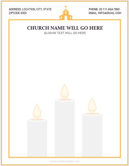 5 Best MS Word Church Letterhead Templates Word & Excel