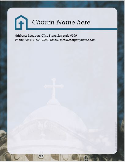5 Best MS Word Church Letterhead Templates  Word  Excel