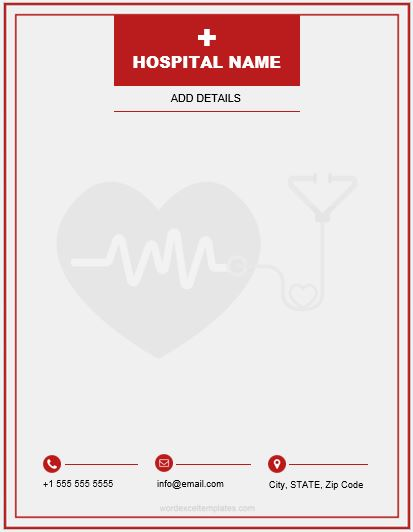 5 Best MS Word Letterhead Templates For Hospitals Clinics