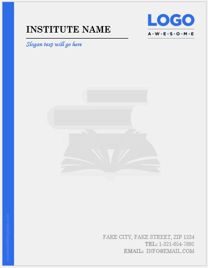 6 Best Educational Institute Letterhead Templates MS Word  Word  Excel Templates