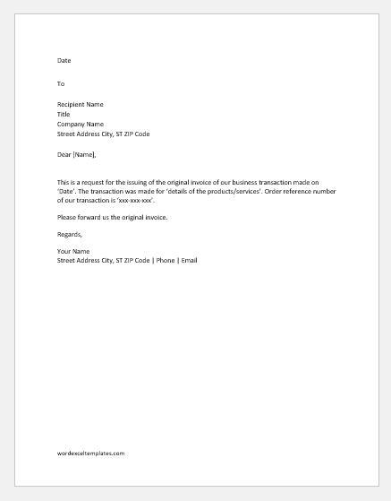 Invoice Letter   mwb-online co