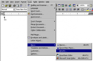 Installing WFC MS Word 2000 XP & 2003 For Windows
