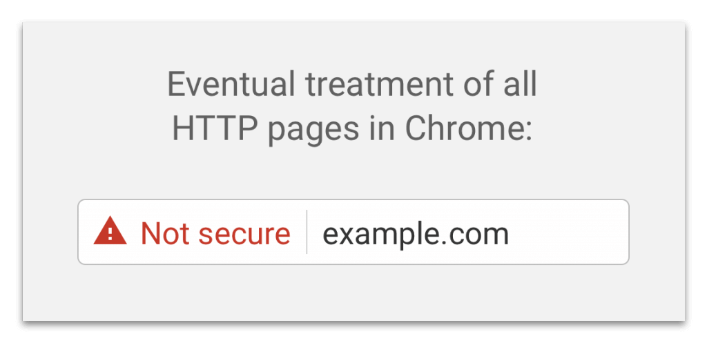 Non-secure site in Chrome