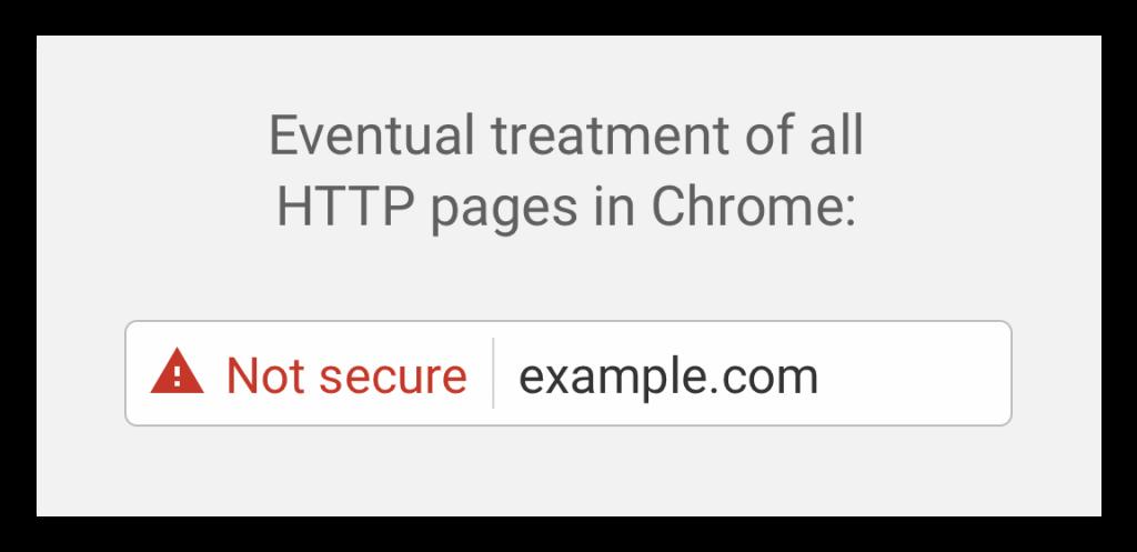 Non-secure site in Chrome