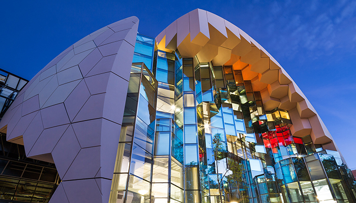 Geelong Library & Heritage Centre at twilight