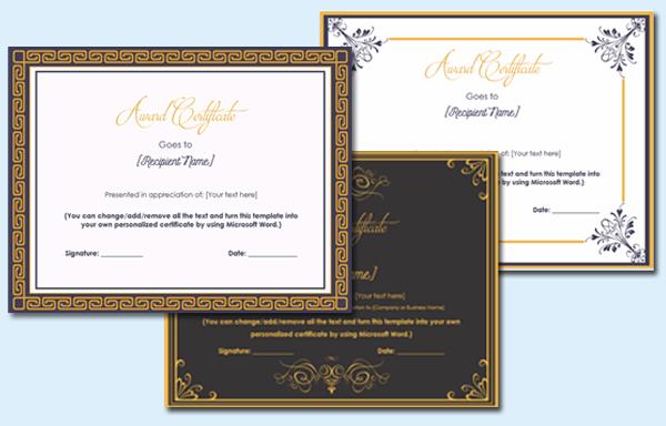 best award certificate
