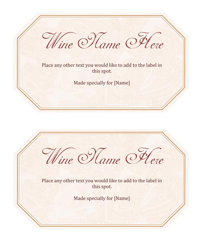 Free Printable Wine Label Template