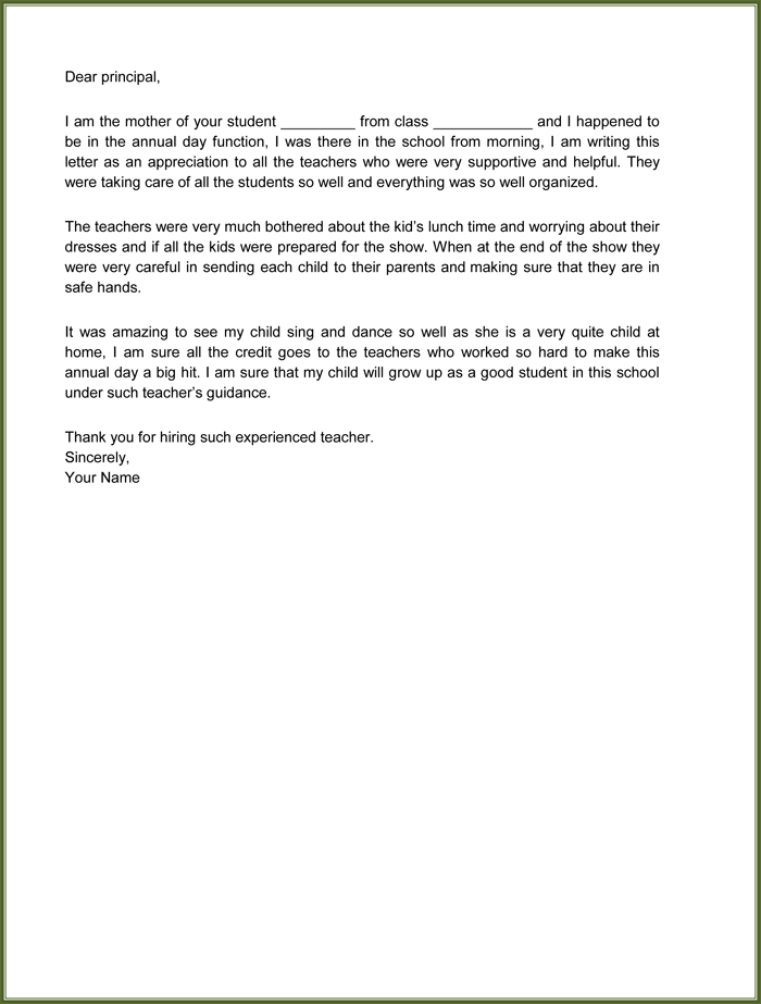 Sample Letter To Boss About Good Employee | Free Resume