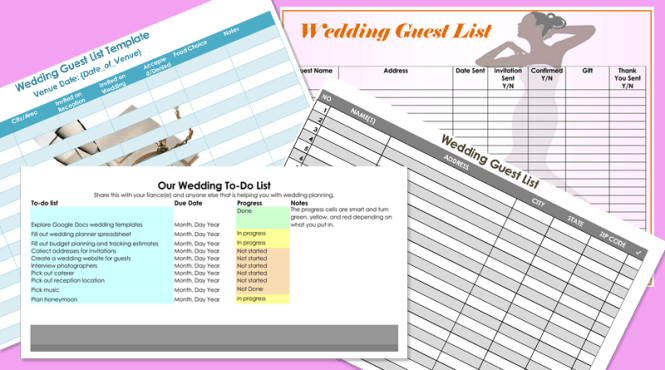 Doc600734 Guest List Template Free Sample Wedding Guest List – Sample Wedding Guest List
