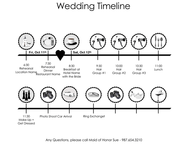 8 Free Wedding Itinerary Templates and Schedule Templates