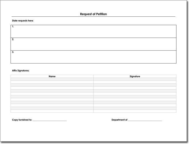 Petition Templates Create Your Own Petition With 20