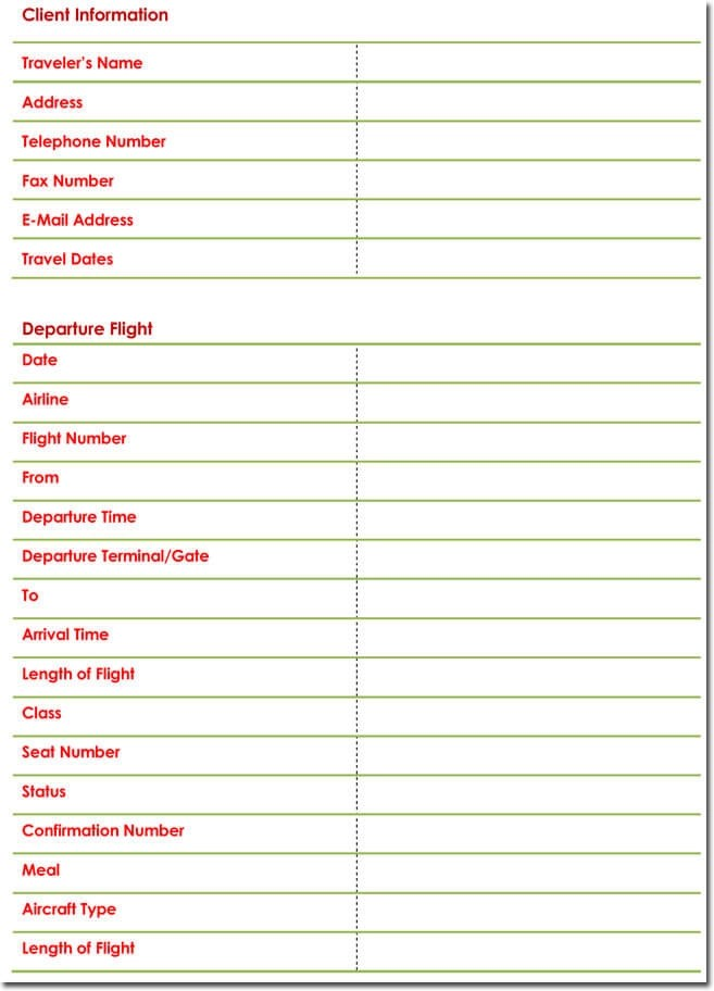 Free Itinerary Templates To Perfectly Plan Your Trips