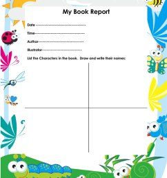Free Book Report \u0026 Worksheet Templates - Word Layouts [ 1034 x 800 Pixel ]