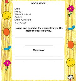 Free Book Report \u0026 Worksheet Templates - Word Layouts [ 1063 x 800 Pixel ]