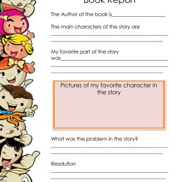 Free Book Report \u0026 Worksheet Templates - Word Layouts [ 1035 x 800 Pixel ]