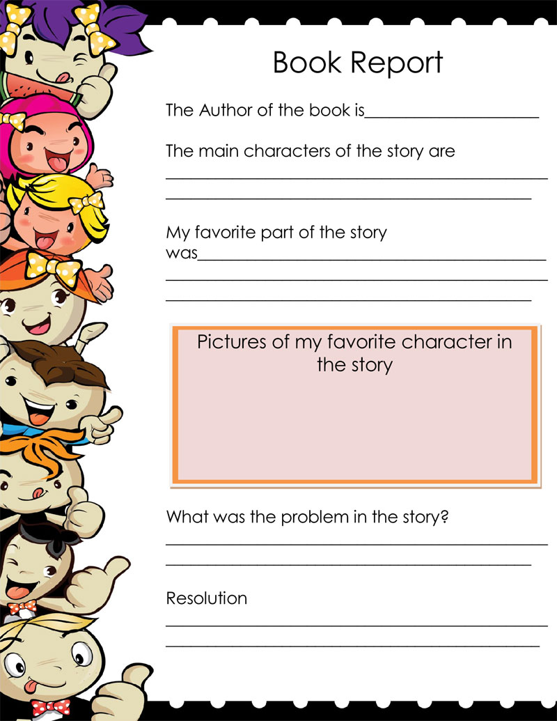 hight resolution of Free Book Report \u0026 Worksheet Templates - Word Layouts