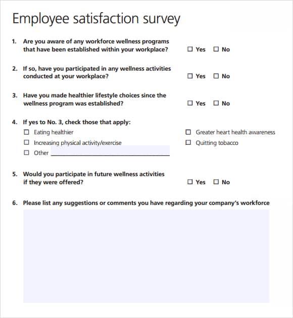 employee satisfaction survey templates