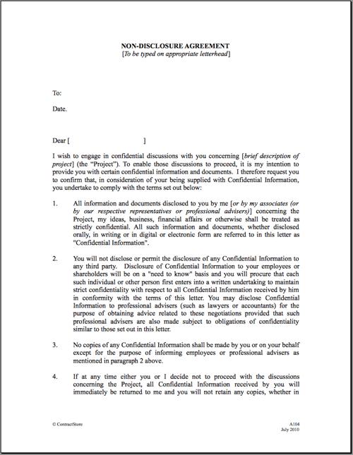 Nda Template 12 non disclosure agreement templates free sample