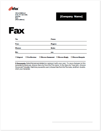 6 fax cover sheet templates