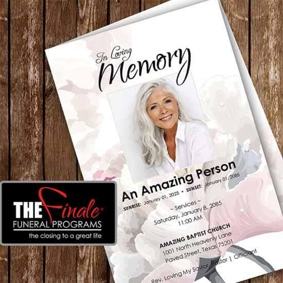 Funeral Program Template 55