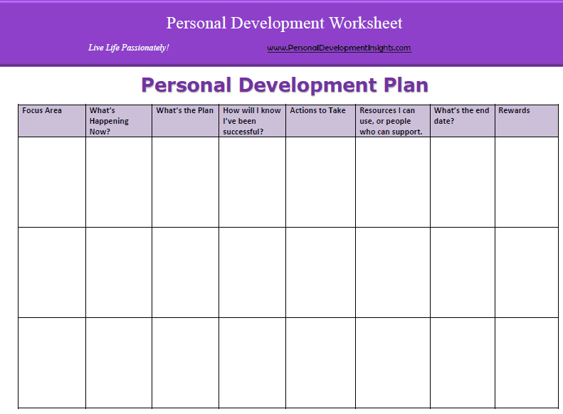 Personal Development Plan Templates Word Excel PDF Templates - Personal business plan template