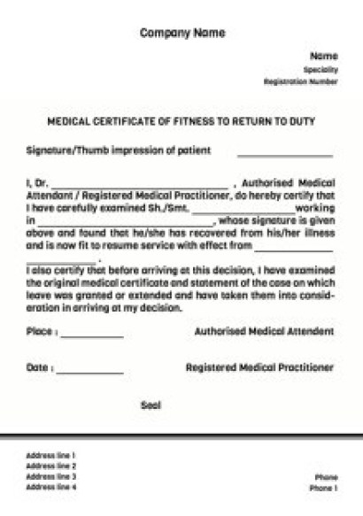 7 medical certificate templates excel pdf formats for Sick certificate template