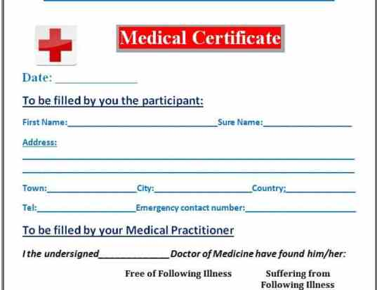 7 medical certificate templates excel pdf formats medical certificate template 555 yadclub Images