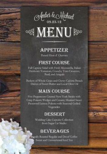 menu template 3322
