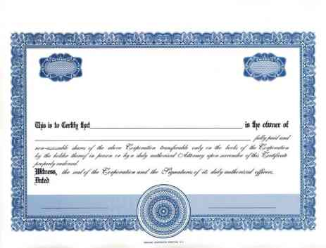 ShareStock Certificate Template 1545
