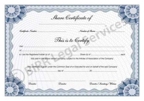 ShareStock Certificate Template 53565