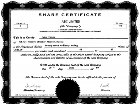 ShareStock Certificate Template 54871