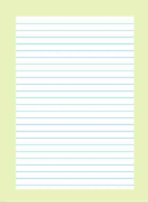 lined paper template 32154