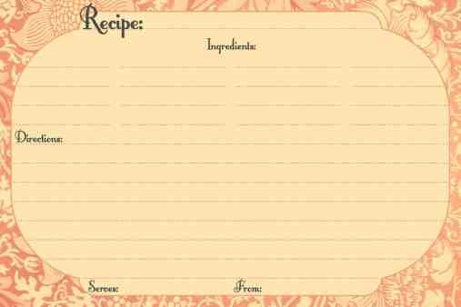 recipe card template 514
