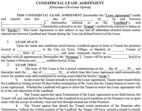 Awesome 13 Commercial Lease Agreement Templates   Excel Pdf Formats