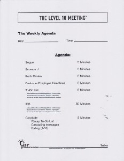 Meeting Agenda template 3689
