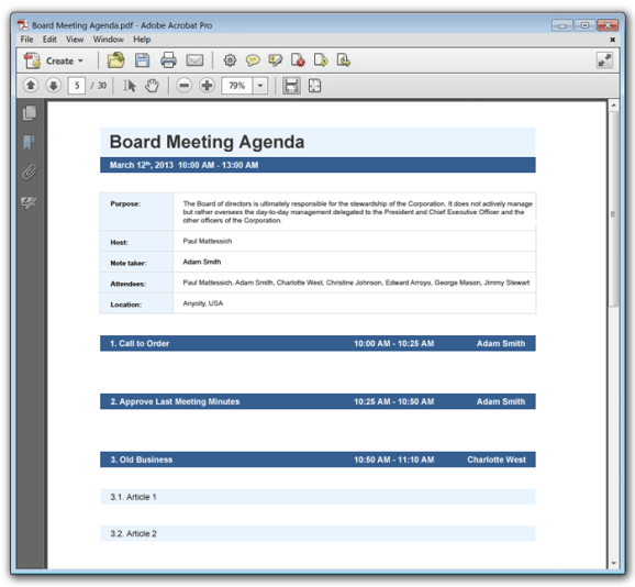 Meeting Agenda template 589+