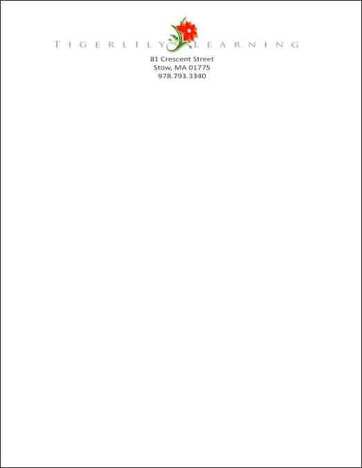 company letterhead template 2163