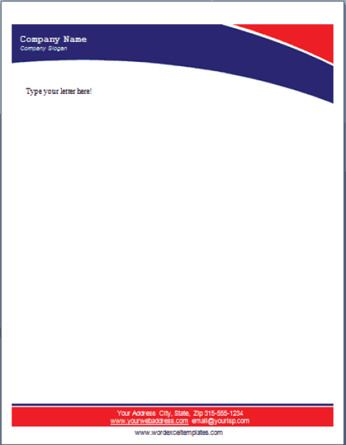 company letterhead template 2689
