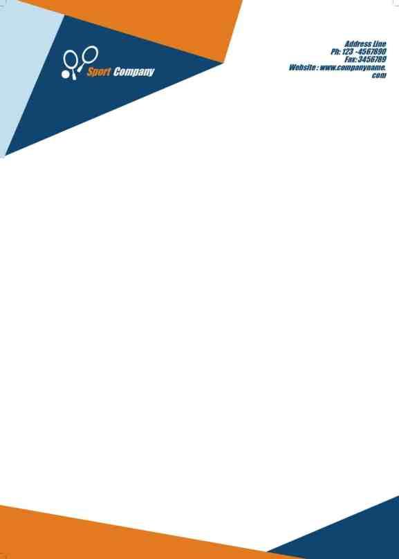 company letterhead template 8515