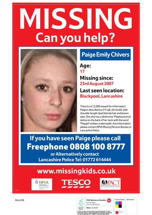 missing person poster template 9988