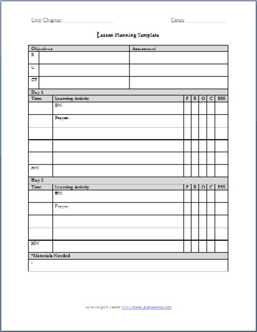 plan template 8596