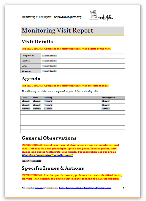 report template 5525