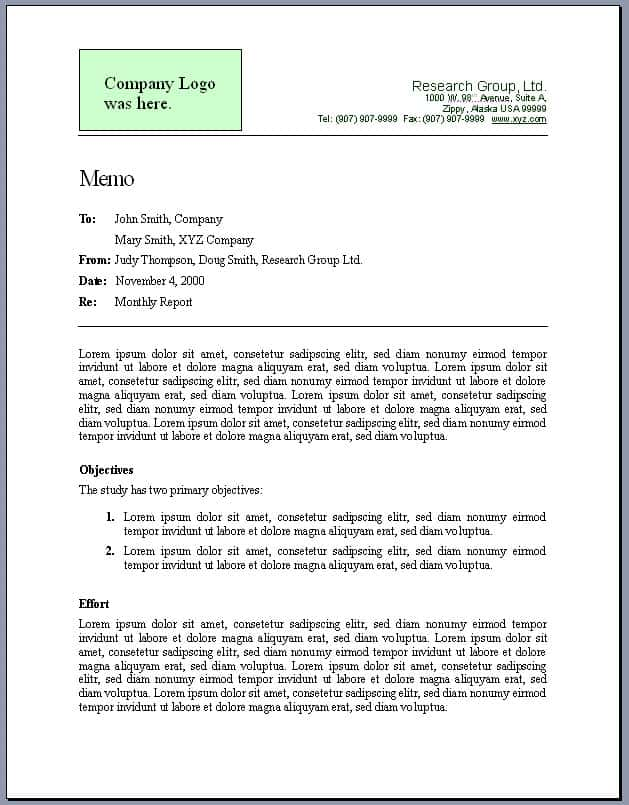 Technical writing service format template