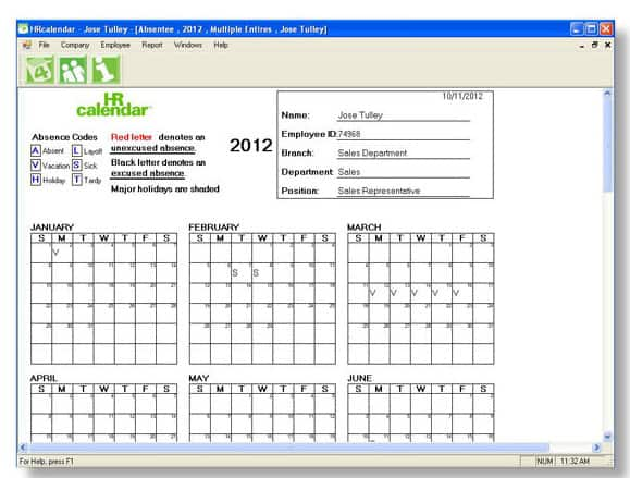 Attendance Tracking Template 5652