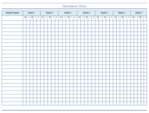 Attendance Tracking Template