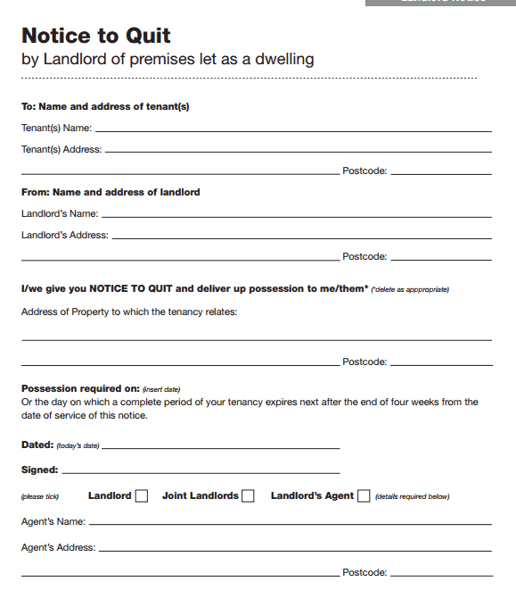sample notice to quit form ecza productoseb co