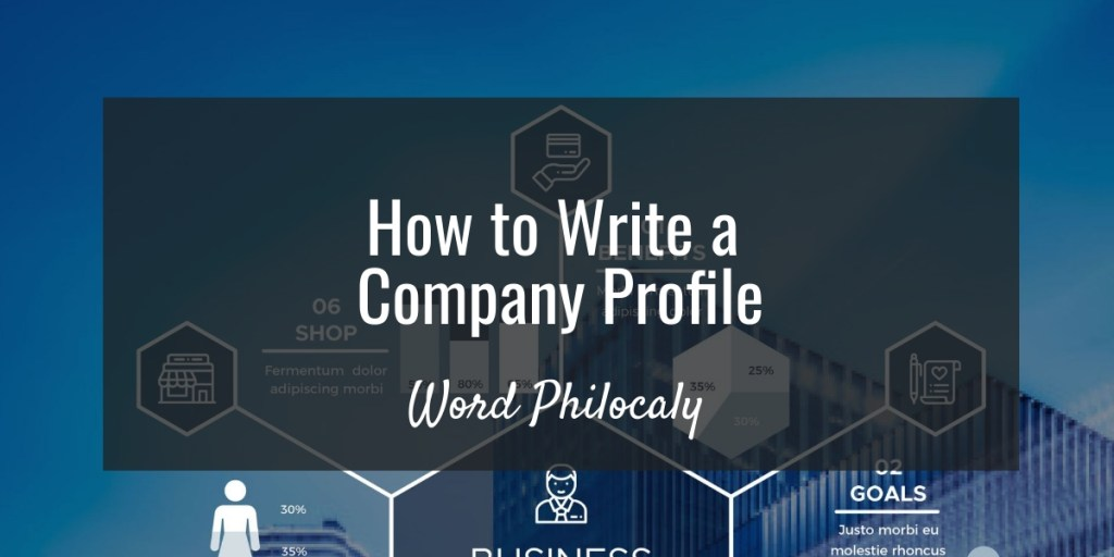 how to write a company profile