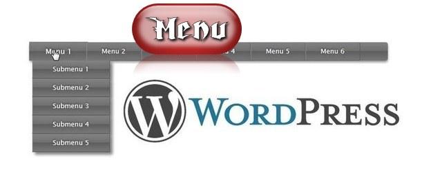 создать меню Wordpress