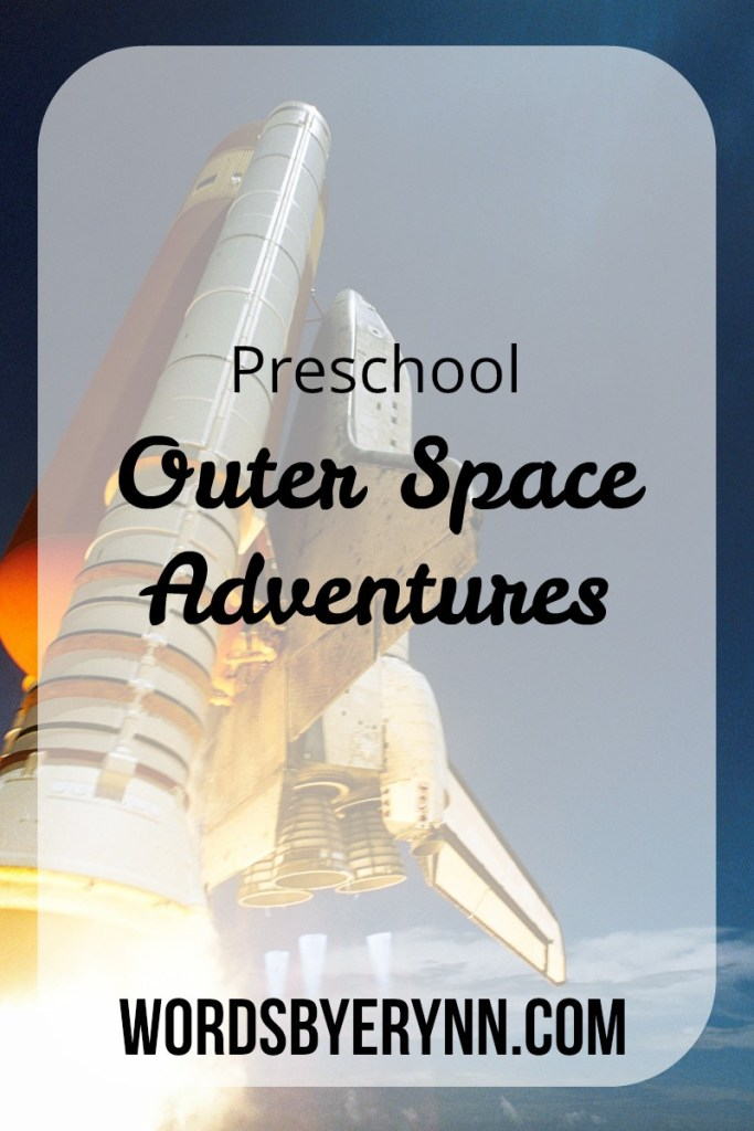 Themed activities for your older toddler to explore outer space!