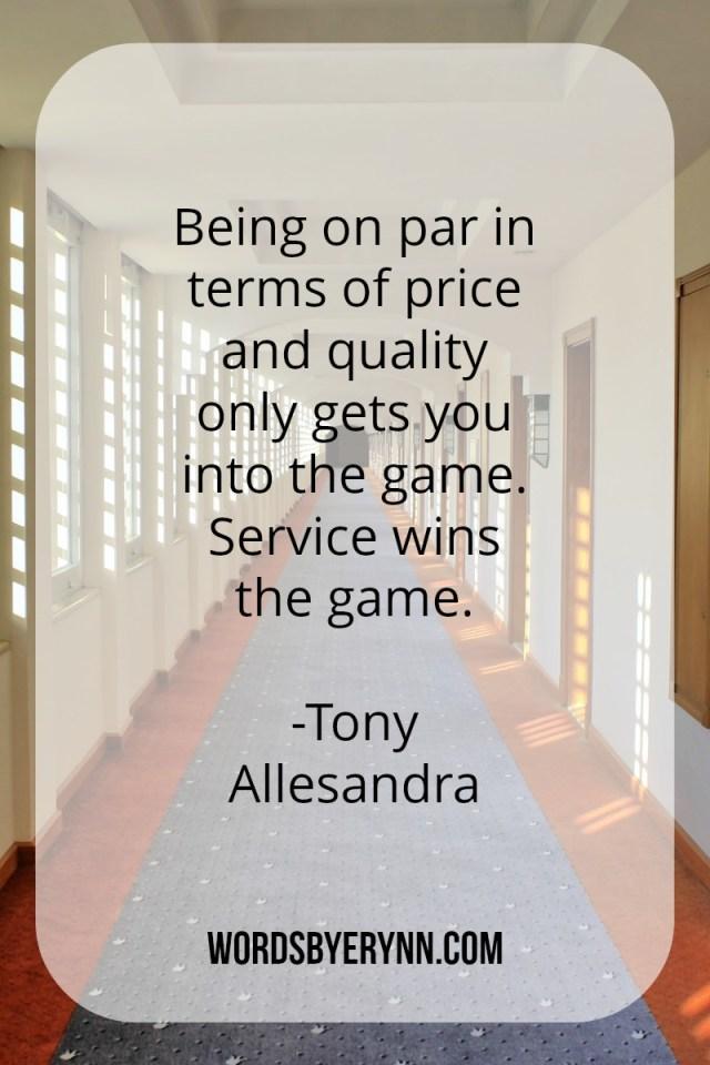 Service Wins the Game - Tony Allesandra